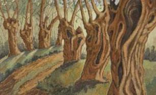 Imagen de la exposición 'SueloArte. Pintando con suelo'